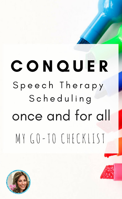 Speech Therapy Scheduling - The Pedi Speechie